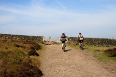 rowerzyści górskie Obrazy Royalty Free