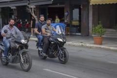 Rowerzyści w Saloniki Zdjęcia Royalty Free