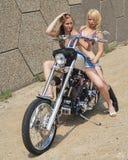 Rowerzystów kurczątka Zdjęcia Royalty Free