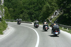 Rowerzystów motocykli/lów siekacza przejażdżka Obrazy Royalty Free