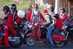 rowerzystów parady xmas Obraz Royalty Free