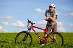 rowerzysta góra Zdjęcie Stock