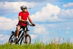 rowerzysta góra Obrazy Stock