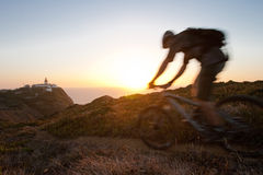 rowerzysta góra Obrazy Royalty Free