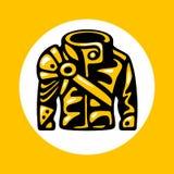 Rowerzysta kurtki ikona zdjęcia stock