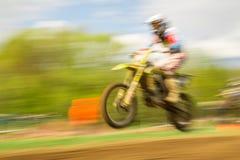Rowerzysta na motocross w ruchu Obraz Royalty Free