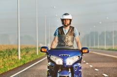 Rowerzysta na motocyklu Fotografia Royalty Free