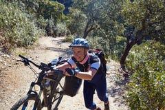 Rowerzysta Przez przy De Los angeles Plata sposobem Andalusia Hiszpania Zdjęcie Royalty Free