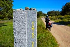 Rowerzysta Przez przy De Los angeles Plata sposobem Andalusia Hiszpania Obraz Royalty Free