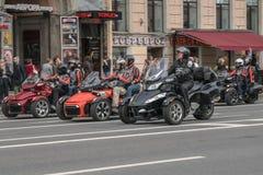Rowerzysty festiwal w St Petersburg Zdjęcie Royalty Free
