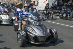 Rowerzysty festiwal w St Petersburg Zdjęcia Royalty Free