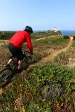 rowerzysty góry jazda Zdjęcie Royalty Free