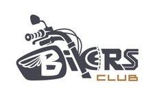 Rowerzysty klub emblemat ilustracja wektor