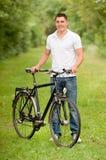 rowerzysty park Zdjęcie Royalty Free
