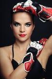 rowerzysty rękawiczek kobieta Obraz Royalty Free