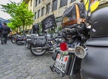 Rowerzysty ` wkurza kogoś out w miasteczku Obraz Stock