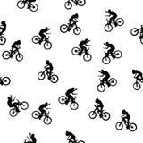 rowerzysty wzór Obraz Stock