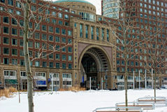 Rowes wharf in boston massachusetts Royalty Free Stock Photography