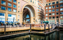 Rowes Wharf, in Boston, Massachusetts. Royalty Free Stock Images