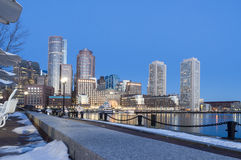 Rowes Wharf from Fan Pier Royalty Free Stock Images