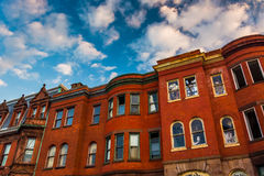 Rowhouses abandonnés à Baltimore, le Maryland Photographie stock libre de droits