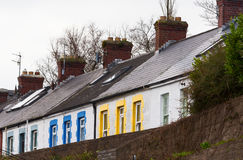 Rowhouses in cheerful colors Royalty Free Stock Photo