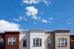 Rowhouses i Washington DC Royaltyfri Foto