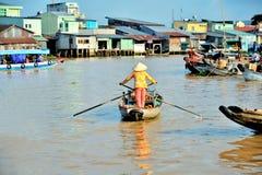 Rowing женщины на шлюпках Стоковое Изображение