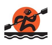 Rowing захода солнца бесплатная иллюстрация