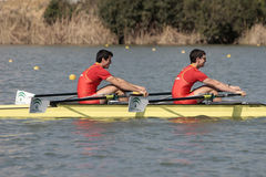 Rowing. Participants in the XV FISA Team Cup of rowing on February 21, 2009 in Sevilla (Spain Stock Photography