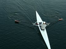 Rowing. Man rowing a single scull in Victoria, British Columbia stock photos