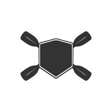Rowing blank badge template for creating custom kayaking and paddling logo. Vector illustration Royalty Free Stock Image