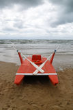 Rowing boat. Stops on the beach Stock Photos