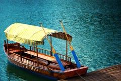 Rowing Boat. At Lake Bled Stock Photo