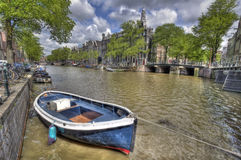 Rowing Boat in Amsterdam Royalty Free Stock Photo