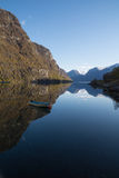 Rowing boat in the Aurlandsfjord, Flam, Norway Royalty Free Stock Photography