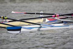Rowing boat collision Royalty Free Stock Photography