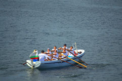 Rowing boat crew Royalty Free Stock Photo