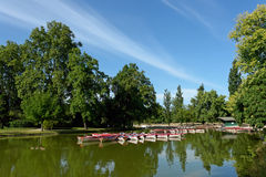 Daumesnil lake in Paris Royalty Free Stock Photo