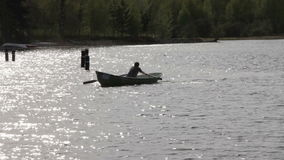 Rowing Boat Floats Royalty Free Stock Images
