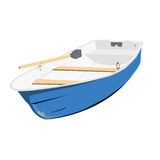 Rowing boat  illustration. Of isolated on a white background Stock Image