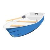 Rowing boat  illustration Stock Image