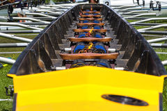 Rowing boat interior Royalty Free Stock Photography