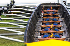 Rowing boat interior Stock Images