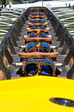Rowing boat interior Stock Photos