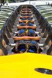 Rowing boat interior Stock Photos