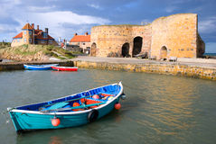 Rowing boat and lime kilns Stock Image