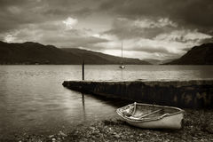 Rowing boat at Loch Duich Royalty Free Stock Images