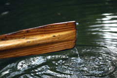 Rowing boat oar Stock Photography