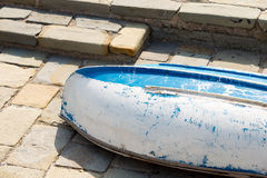 Rowing Boat on the Pier - Liguria Italy Royalty Free Stock Photography